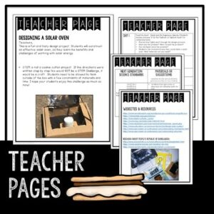 Solar Oven STEM Activity with a Literacy Connection