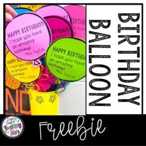 Birthday Balloon Freebie