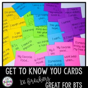 "Back to School ""Get to Know You"" Activity"