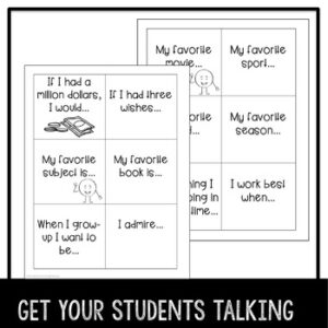 """Back to School """"Get to Know You"""" Activity"""
