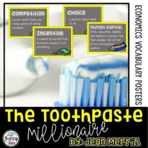 Economic Vocabulary Posters to use with The Toothpaste Millionaire