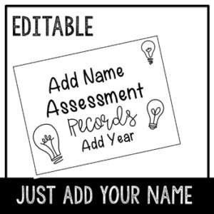 Recording Assessment Editable Template