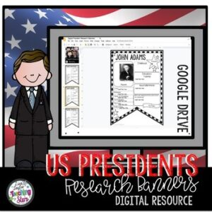 Digital | US President Research Banners | Google Classroom
