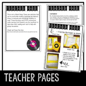 Novel Lapbook to use with the book Countdown