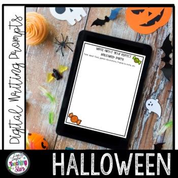 Digital Halloween Writing Prompts