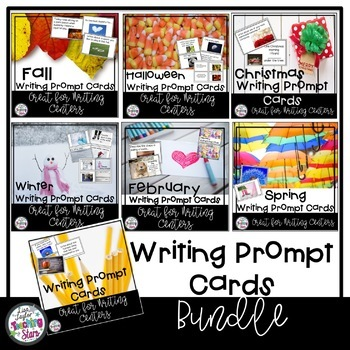 Writing Prompt Cards Bundle   Writing Centers