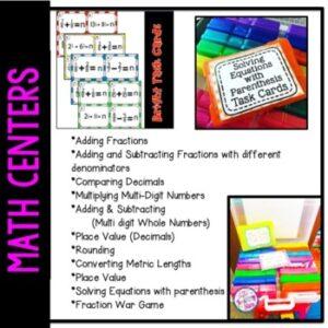 Math Task Cards | Math Centers | Math Games Bundle