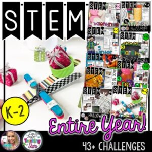 STEM Challenges For the Entire Year Bundle K-2 includes Christmas STEM