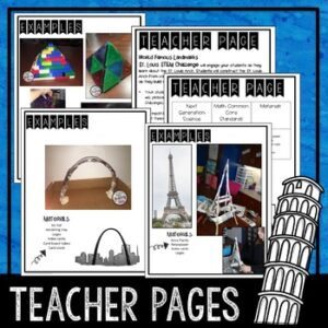 STEM  World Landmarks and Celebrations Activities Bundle Distance Learning