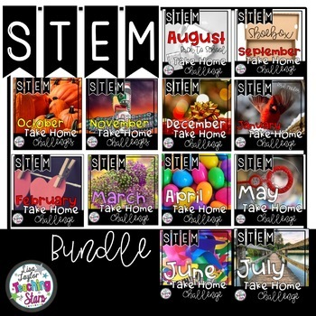 Entire Year of Take Home STEM Challenges   Family STEM Activities