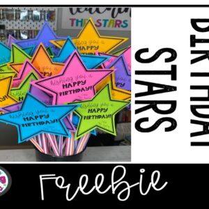 Happy Birthday Star Freebie