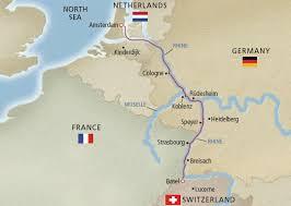 Map of Viking Rhine River Cruise