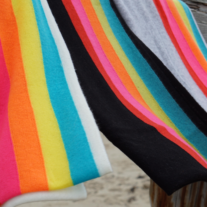 Rainbow Cashmere Travel Wraps