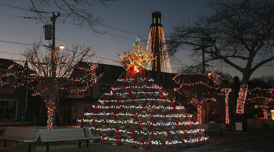 Lighting of the Lobster Pot Tree Provincetown