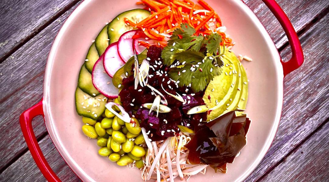Roasted Beet Poke Salad