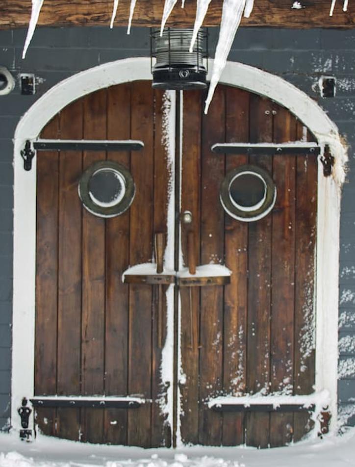 Provincetown Snowy Door
