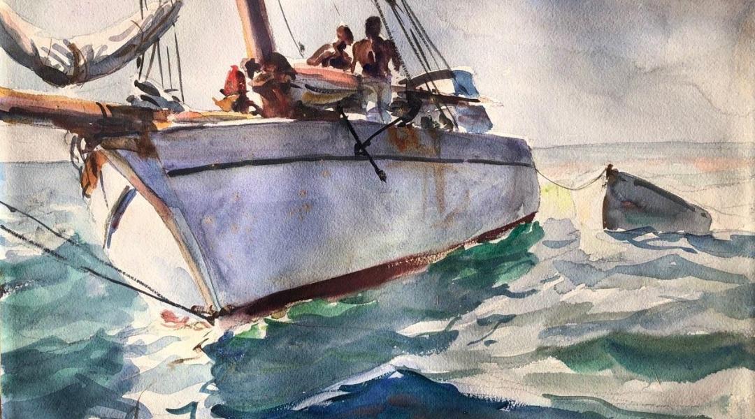 John Whorf Sailboat, Egeli Gallery