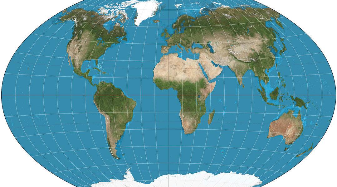 World map for Worldfest