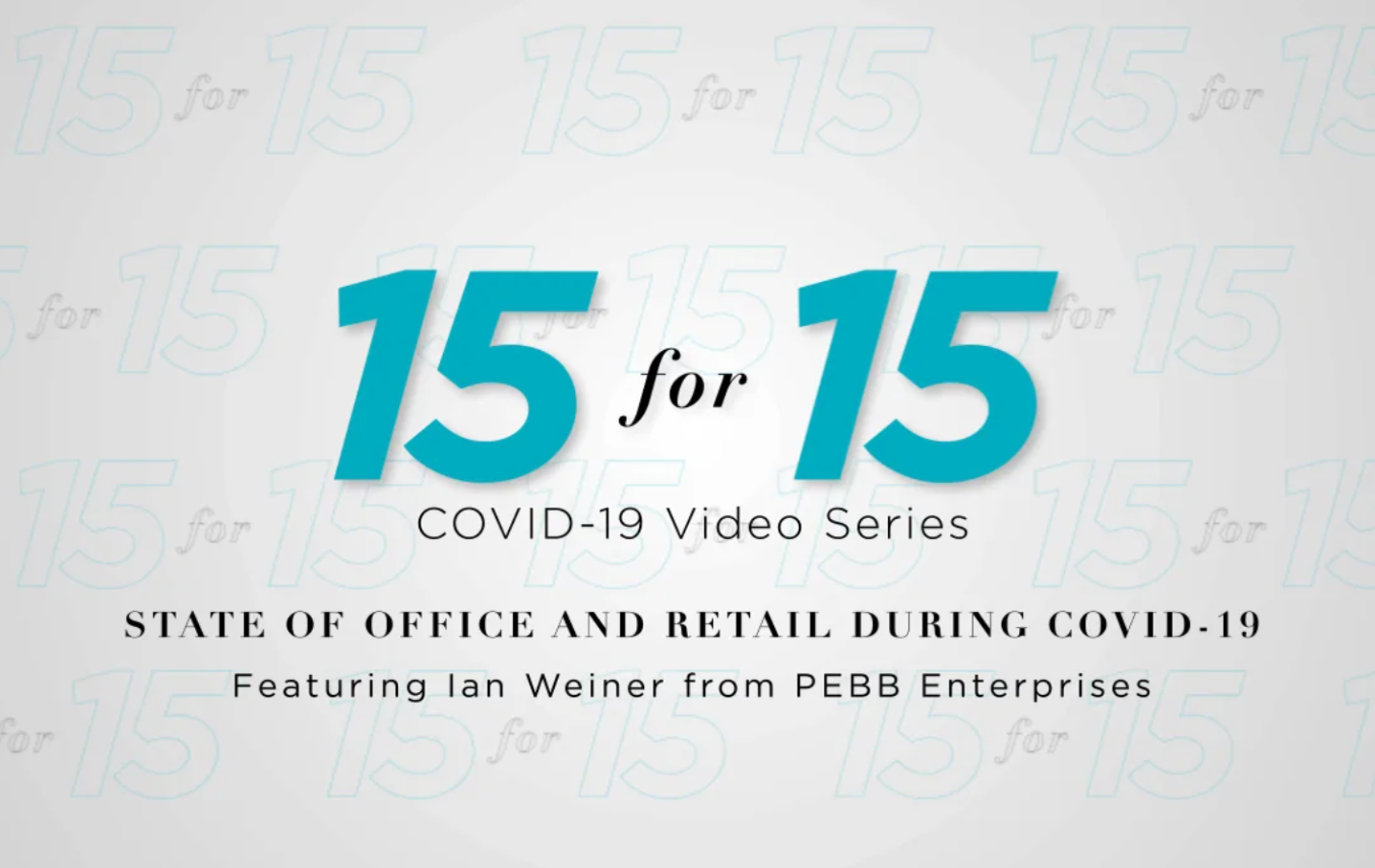 President & Chief Executive Officer Ian Weiner featured on 15 for 15