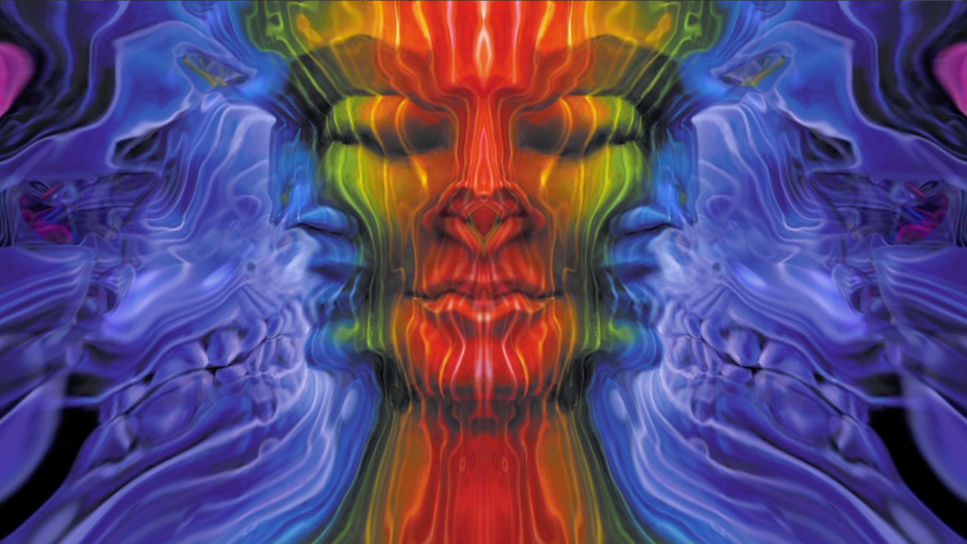 Visuals with Alex Grey Paintings