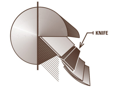 Veneer Cutting Diagram – Quarter Sliced