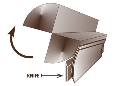 Veneer Cutting Diagram – Rift Cut