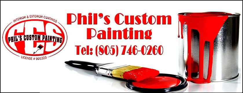 Phil's Custom Painting Header Exterior