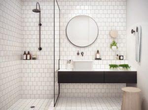 San Antonio Bathroom Remodeling White Subway Tile Flooring Decor Renovation Contractors Cabinets Bathrooms