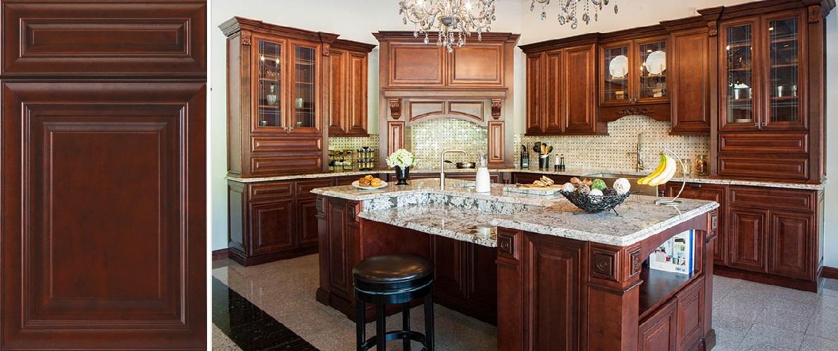 Mahogany Maple Framed Cabinets - New Generation Kitchen & Bath