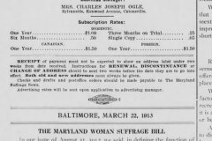 Maryland Women at work for suffrage