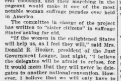 Suffragists seek paraders