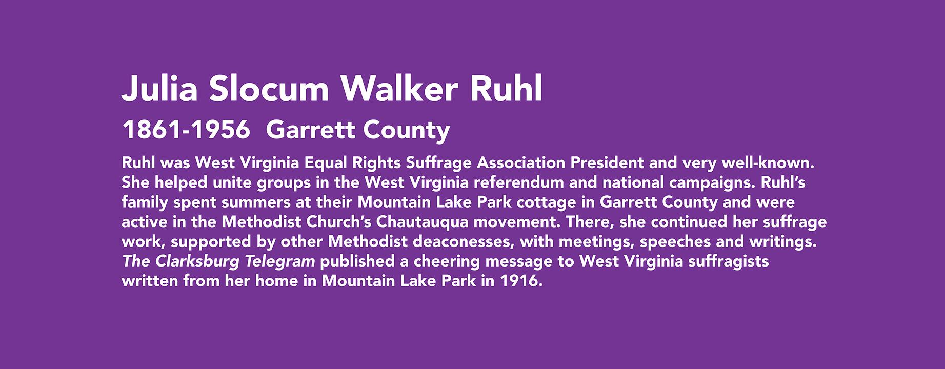 Julia Slocum Walker Ruhl