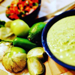 Tomatillo-Avocado Salsa, Screaming Goat Taqueria, Sarasota, Florida