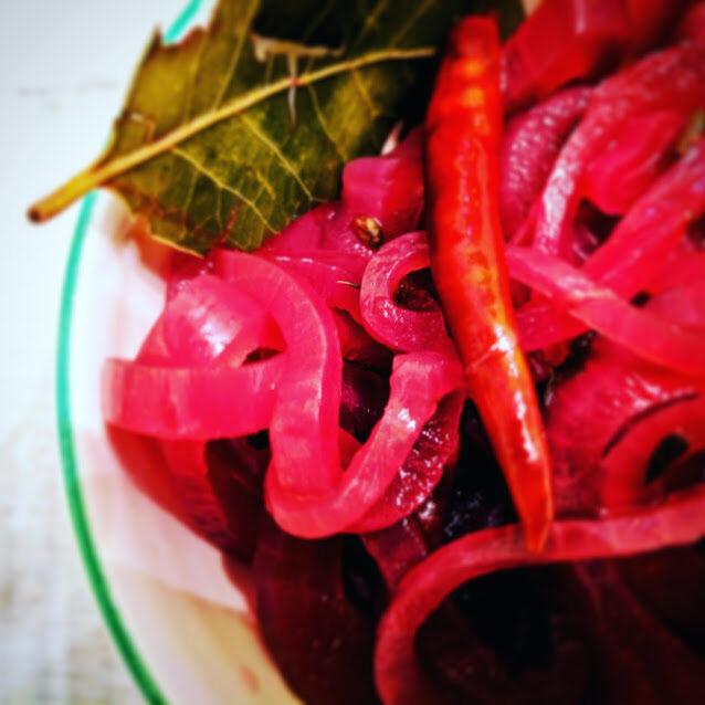 Pickled Red Onions, Screaming Goat Taqueria, Sarasota, Florida