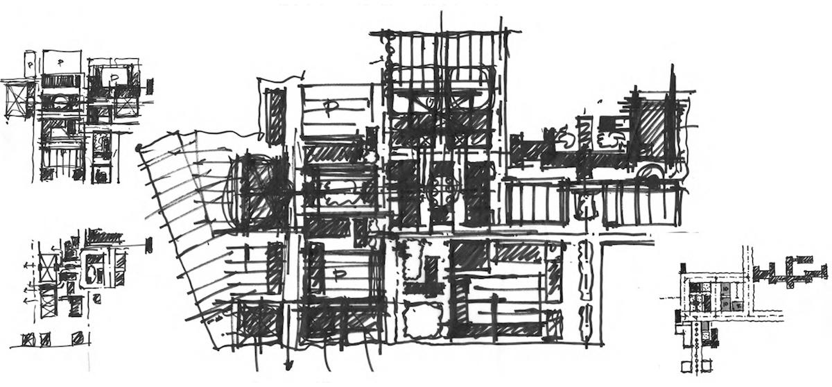 Bull Street Common South Carolina Sketch