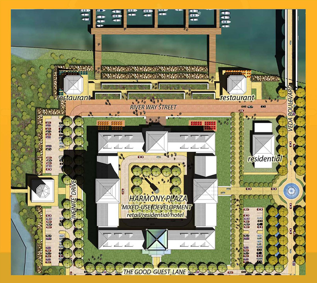 Maharishi Vedic City Design Architects Firm Niagara Waterfront Plaza