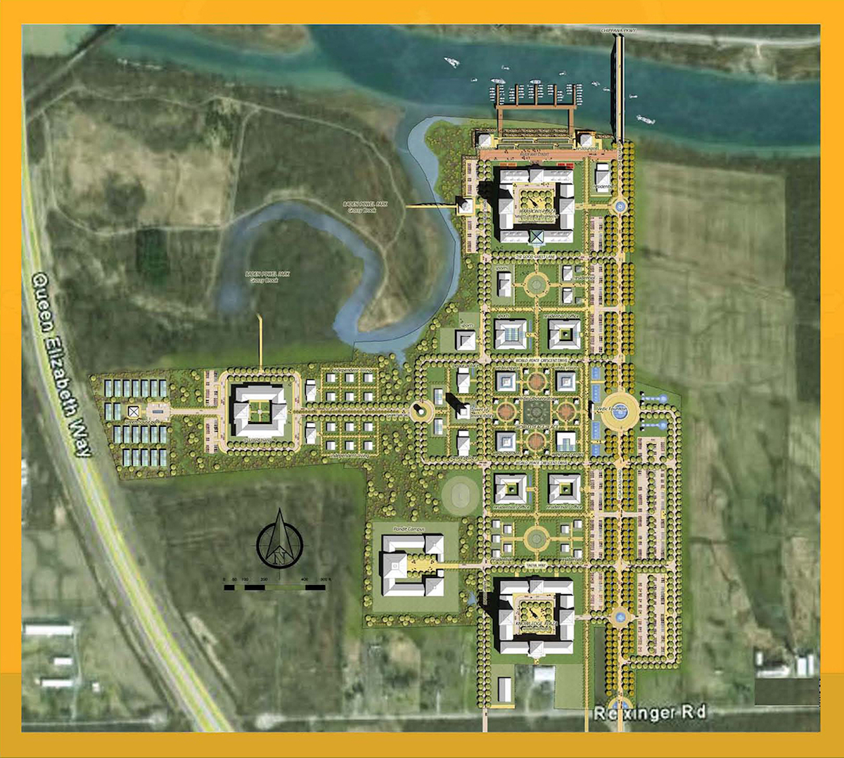 Maharishi Vedic City Design Architects Niagara Masterplan