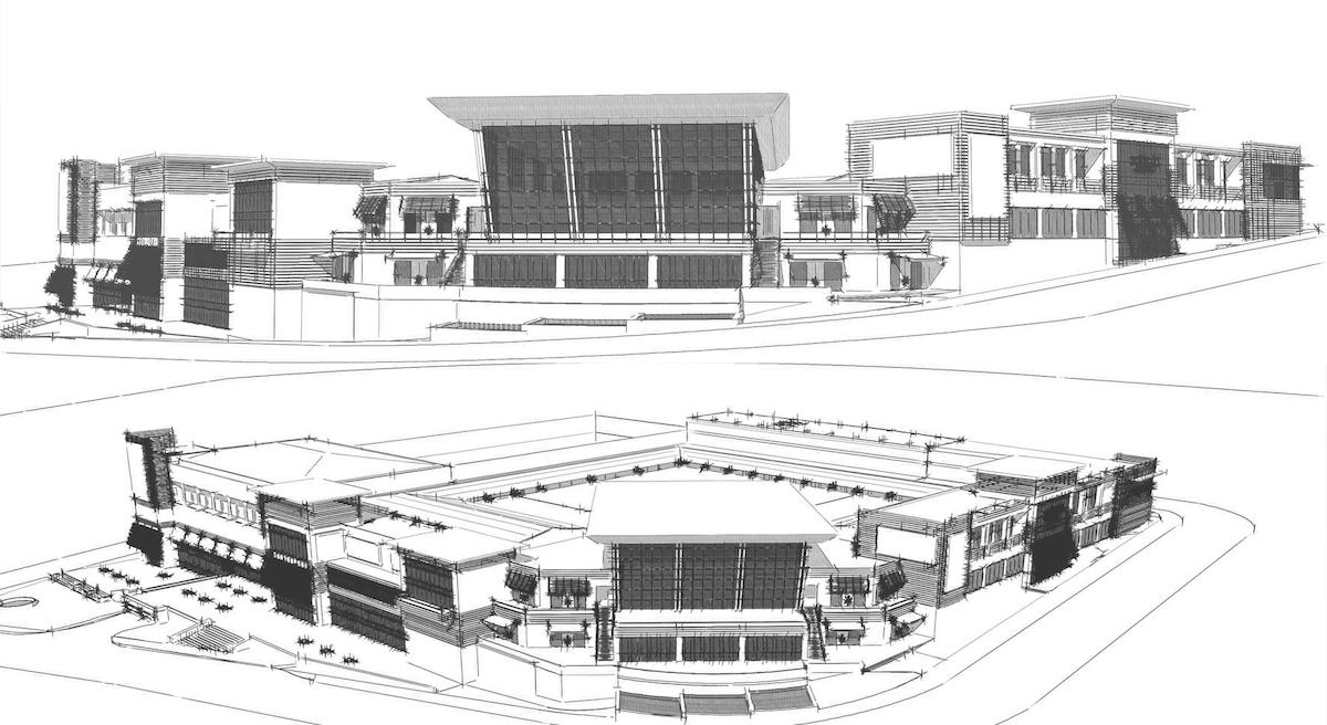 Pacifico Hotel Mall Design Architects Diagram
