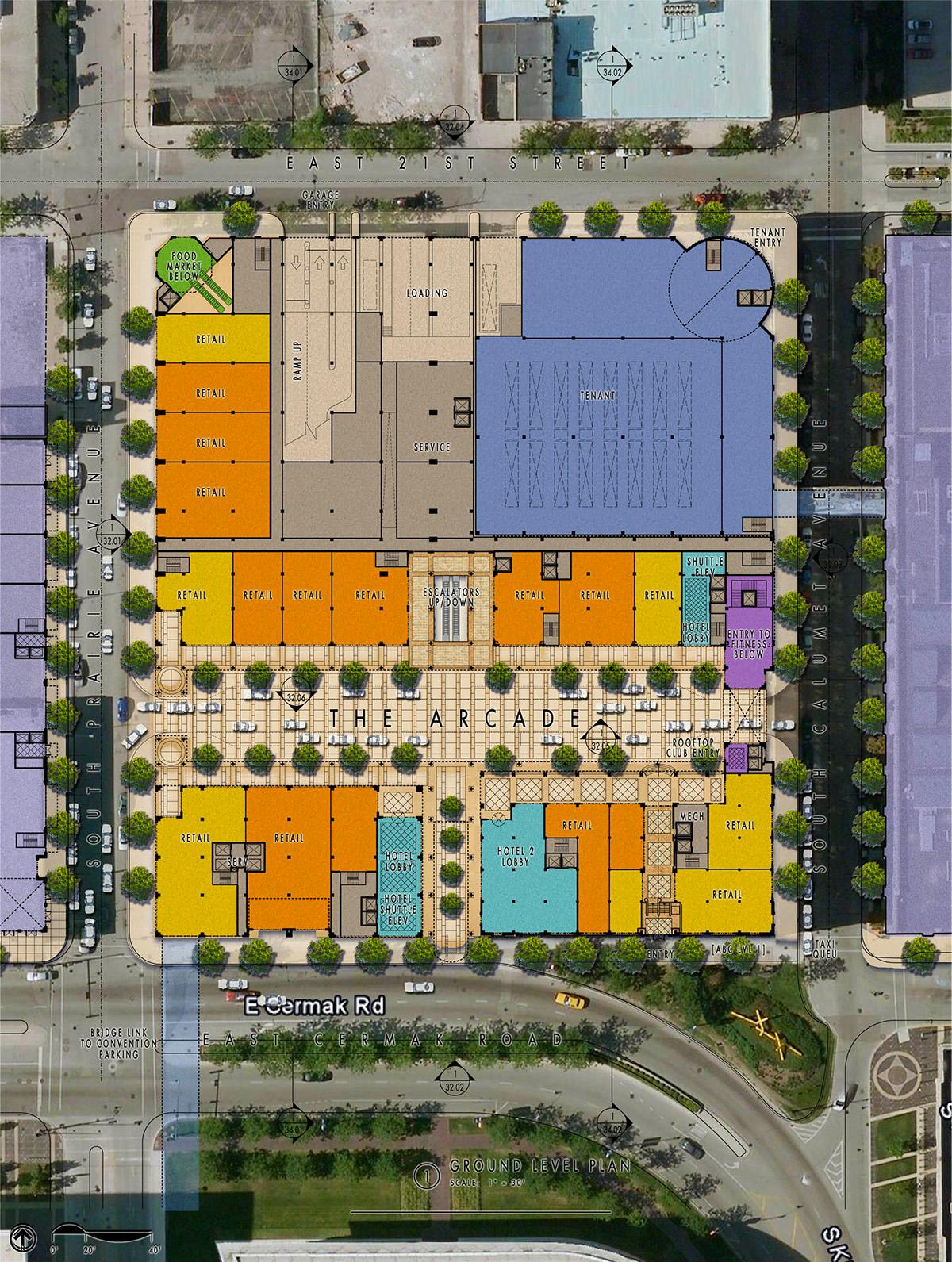 Prairie Block Chicago IL Design Architects Master Plan