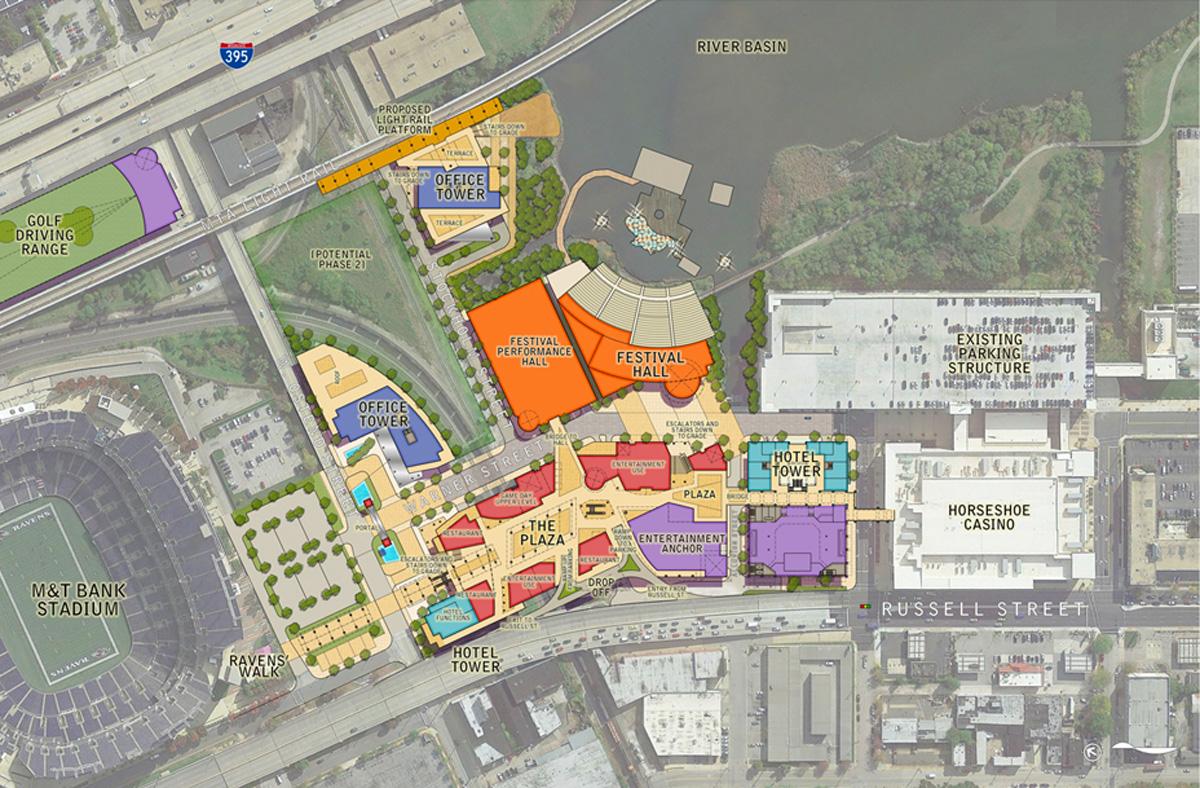 Stadium Walk Baltimore Maryland Design Architects Master Plan
