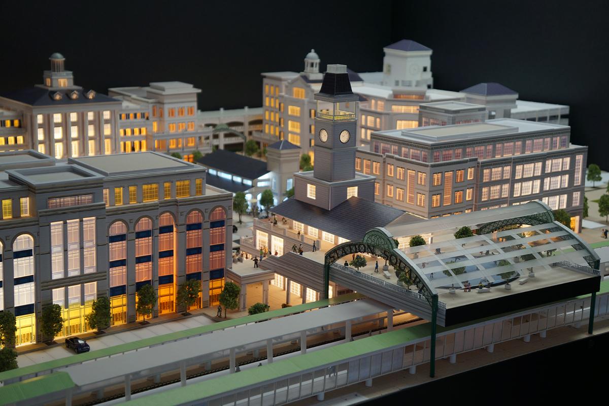 Ronkonkoma Station Square model