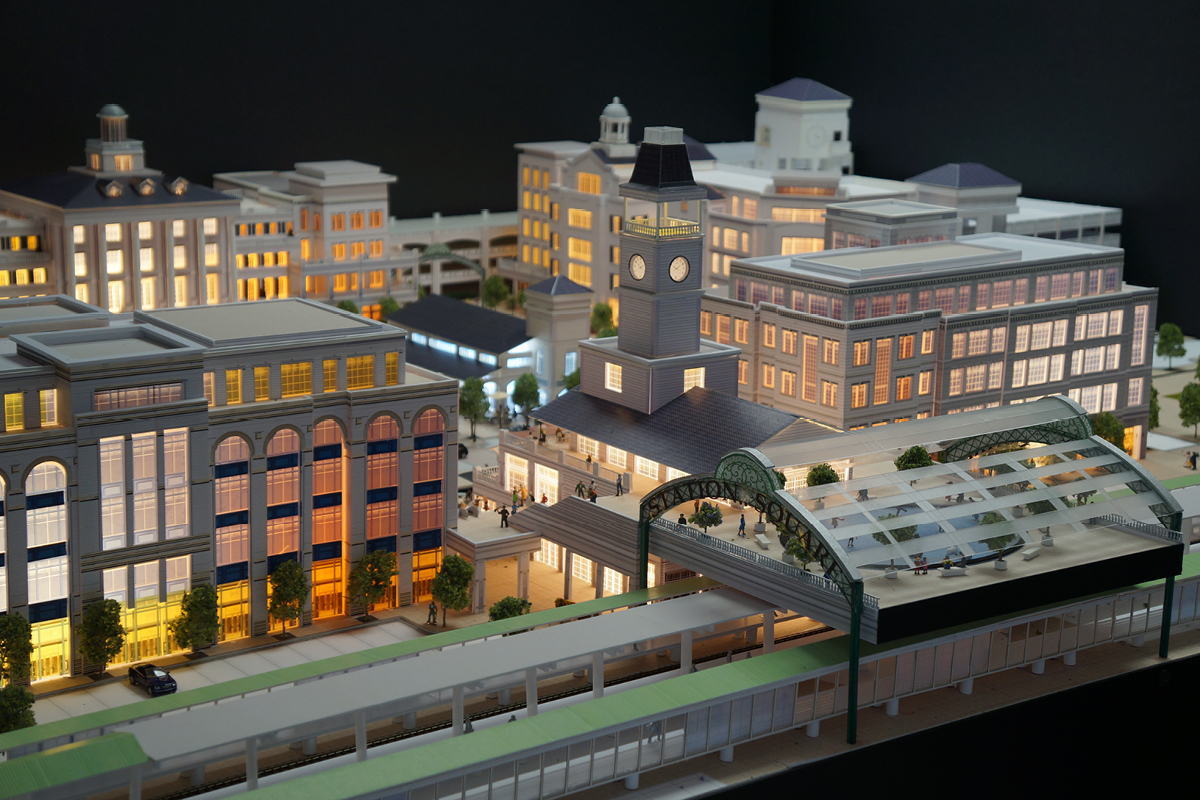 Ronkonkoma Station Square model