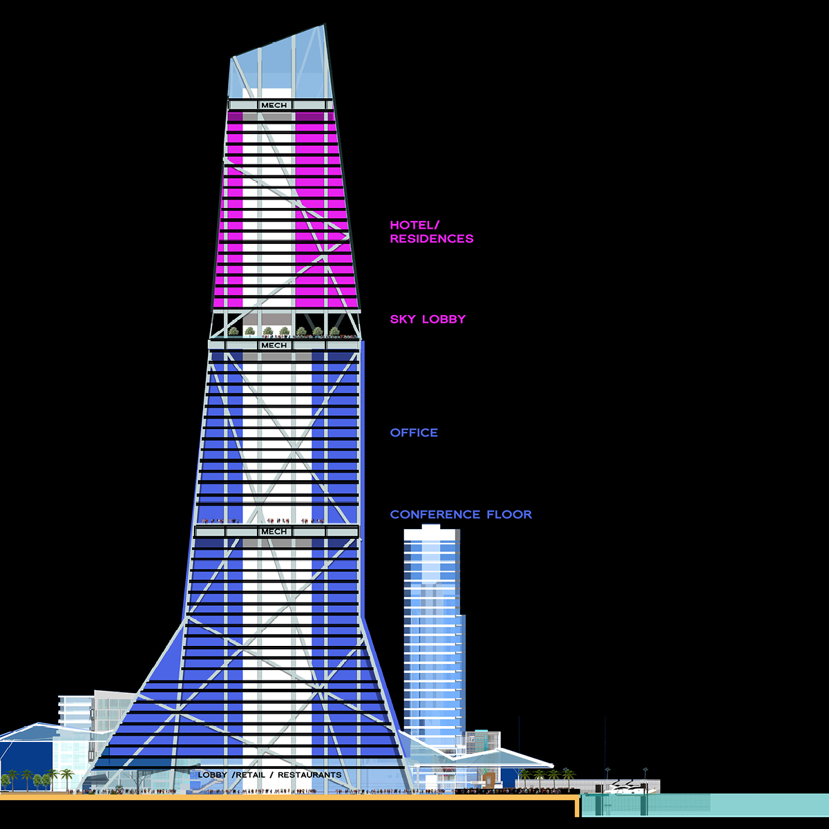 Marina Tower section