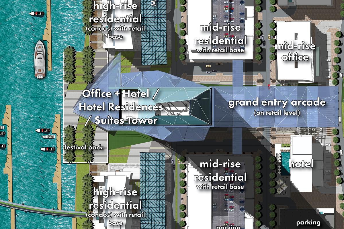 Marina Tower master plan