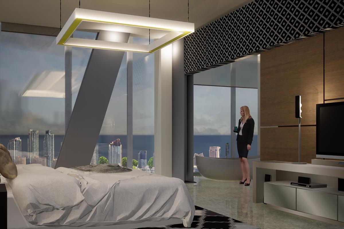 Marina Tower hotel room