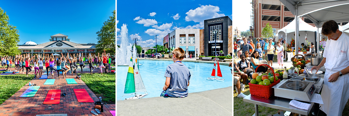 public space at Easton Town Center