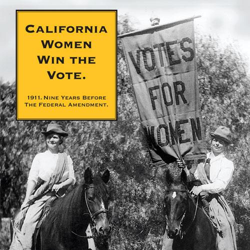 California Women Win the Vote