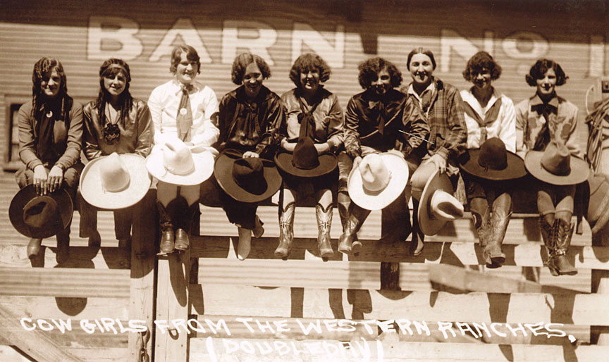 Cowgirls from the Western Ranches