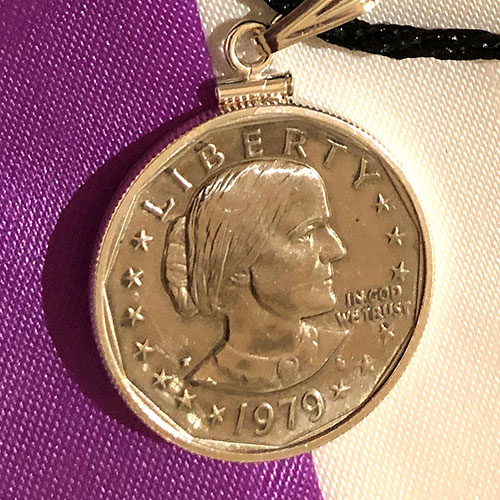 Susan B. Anthony Necklace Detail