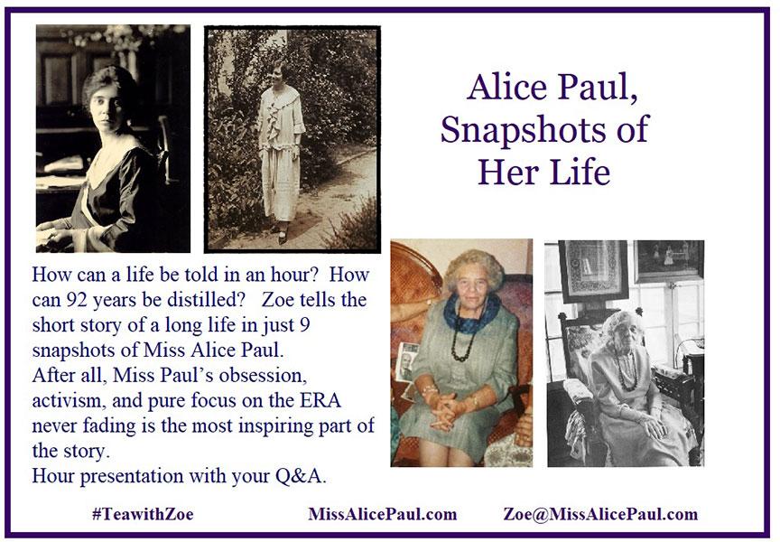 Alice Paul - Snapshots of Her Life